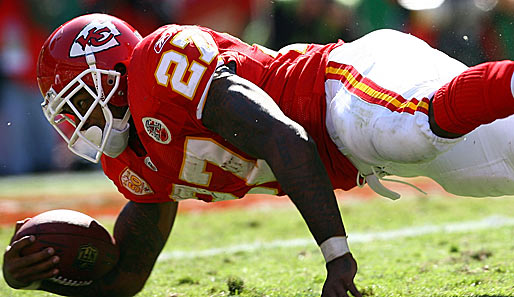 Larry Johnson spielt als Running Back für die Kansas City Chiefs