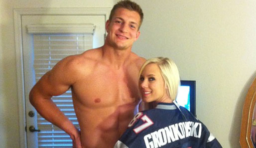 Patriots-Star Rob Gronkowski und BiBi Jones...