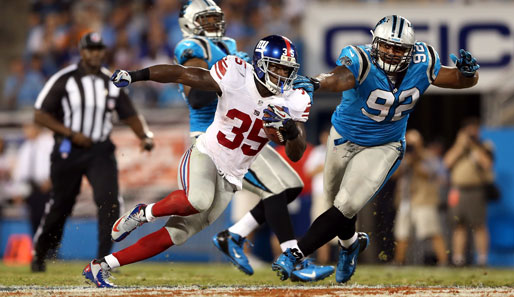 Andre Brown überragte mit 20 Carries und 2 Touchdowns beim Sieg der New York Giants
