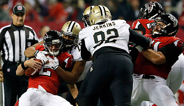 Die Saints-Defense sackte Falcons-QB Matt Ryan fünf Mal