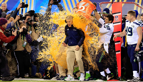 Die Seattle Seahawks um Head Coach Pete Carroll sind Super-Bowl-Champion
