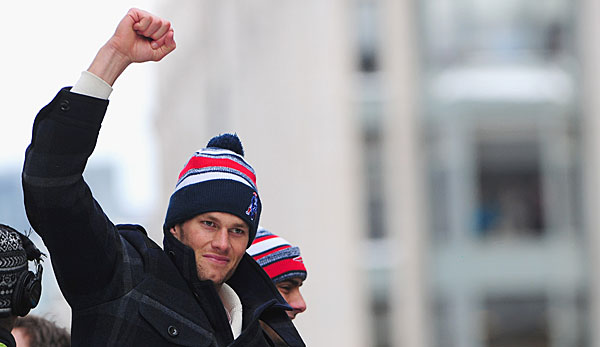 Tom Brady auf der Super-Bowl-Parade in Boston