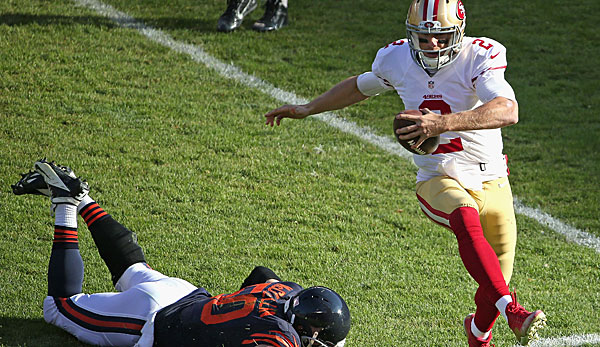 49ers-(Interims-)Quarterback Blaine Gabbert zeigte in Chicago seine Sprinter-Qualitäten
