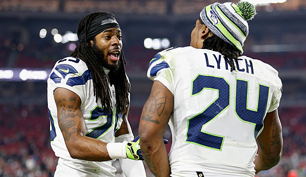 Richard Sherman (l.) hat mit Lynch einen Super Bowl nach Seattle geholt