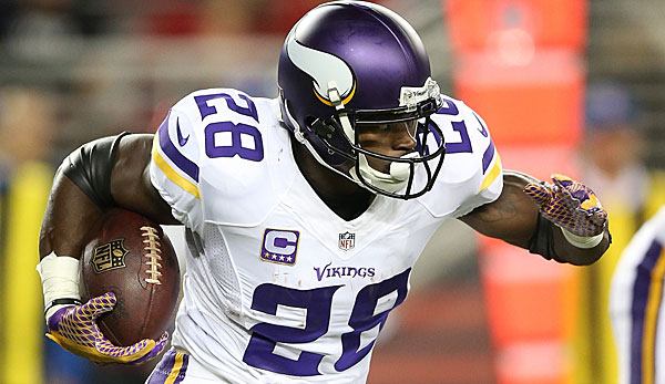 Adrian Peterson erlief in zehn Jahren in Minnesota 11.747 Yards (97 Rushing-TDs)