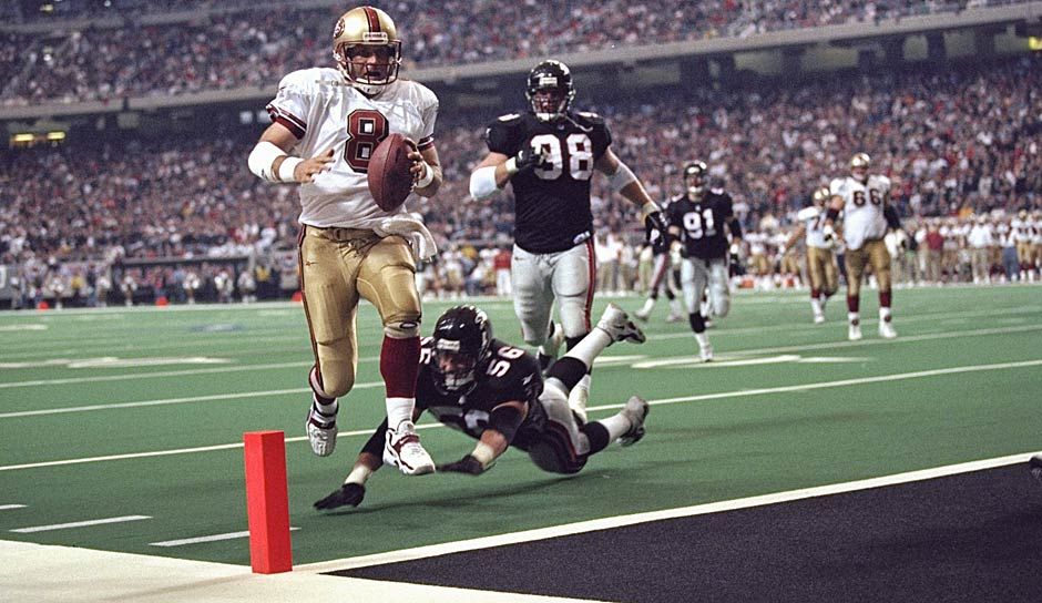 3.: Steve Young (1985 - 1999): 43 Rushing-Touchdowns