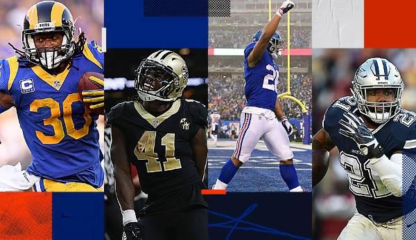 Diashow: NFL: Gurley, Zeke und Co. - das Running-Back-Ranking