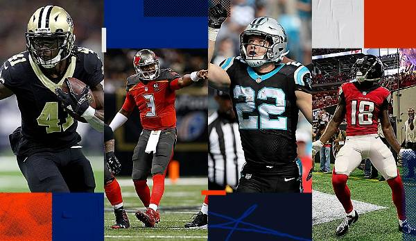 Starter-Serie: Saints, Falcons, Buccaneers, Panthers - die NFC South