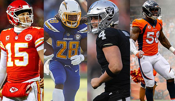 Podcast: Division Preview AFC West - Raiders, Chiefs, Broncos, Chargers