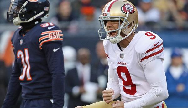 NFL: San Francisco 49ers verlängern Vertrag mit Robbie Gould um zwei Jahre
