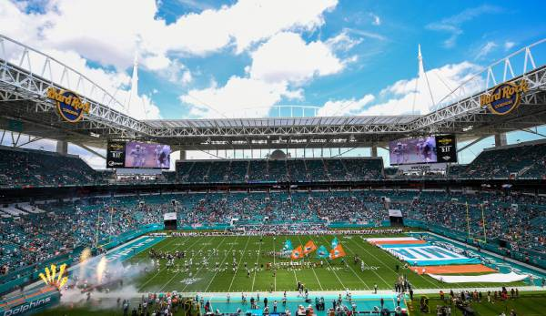Im Hard Rock Stadium in Miami findet 2020 der Super Bowl statt.