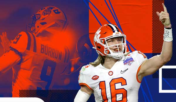Joe Burrow trifft im National Championship Game auf Trevor Lawrence.