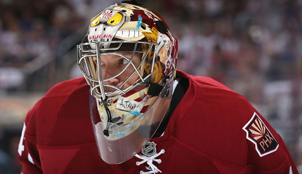 Coyotes-Keeper Mike Smith erzielte das 5:2 gegen die Red Wings