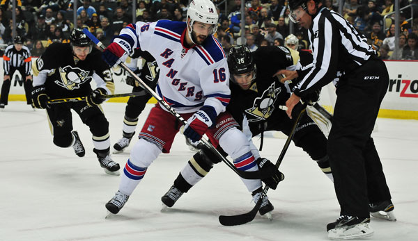 Die New York Rangers gewannen bei den Pittsburgh Penguins