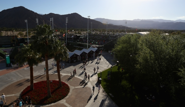 INDIAN WELLS, CA - MARCH 08: A general view during day two of the BNP Paribas Open at Indian Wells Tennis Garden on March 8, 2016 in Indian Wells, California. (Photo by Julian Finney/Getty Images)