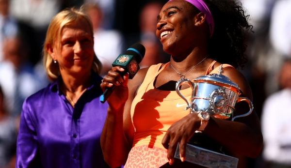 Martina Navratilova und Serena Williams