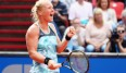 NUREMBERG, GERMANY - MAY 20: Kiki Bertens of Netherlands celebrates after defeating Julia Goerges during day seven of the Nuernberger Versicherungscup 2016 on May 20, 2016 in Nuremberg, Germany. (Photo by Alex Grimm/Bongarts/Getty Images)