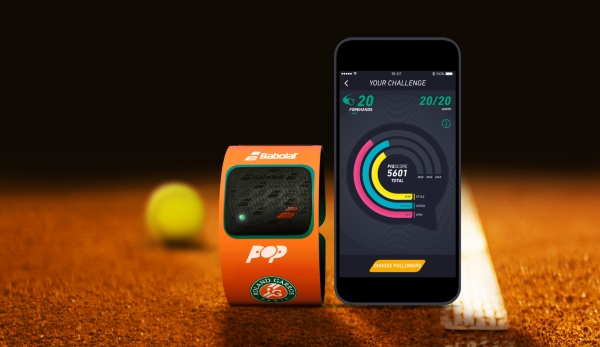 Babolat POP, connected wearable, Roland Garros