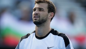 SYDNEY, AUSTRALIA - JANUARY 15: Grigor Dimitrov of Bulgaria looks on during his semi final match against Gilles Muller of Luxembourg during day six of the 2016 Sydney International at Sydney Olympic Park Tennis Centre on January 15, 2016 in Sydney, ...