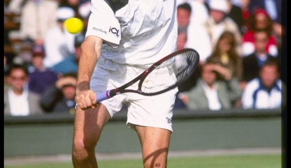 4 Jul 1996: Alex Radulescu of Germany in action during the Wimbledon tennis championships at the all England Club in London, England. Mandatory Credit: Allspo...