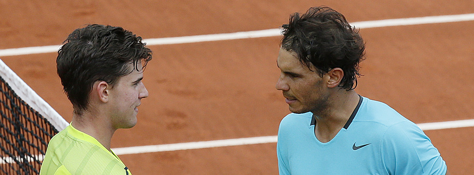 Dereinst in Paris: Dominic Thiem und Rafael Nadal