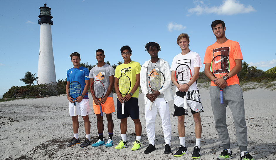 Diese Next-Gen-Stars sind in Miami am Start: Casper Ruud (Norwegen), Michael Mmoh (USA), Hyeon Chung (Südkorea), Mikael Ymer (Schweden), Andrey Rublev und Karen Khachanov (beide Russland).