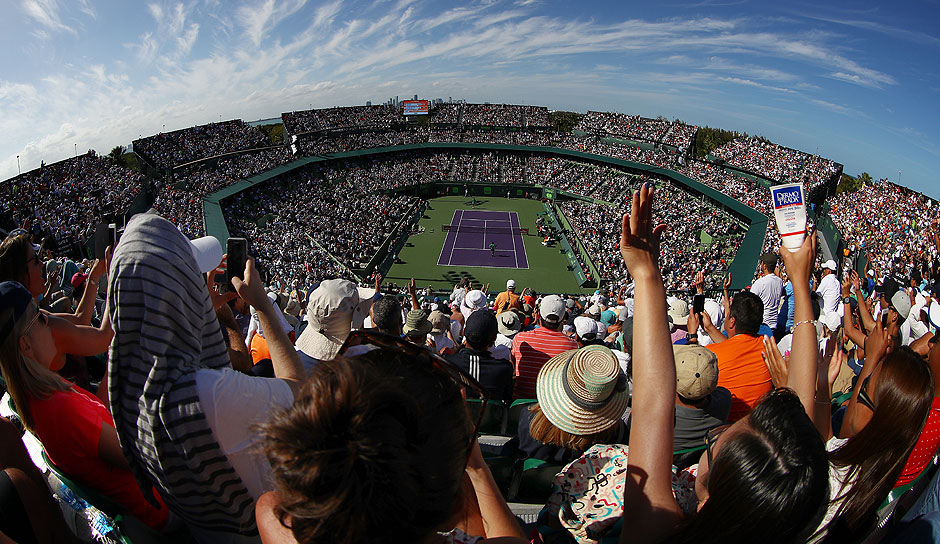 Full House im Stadium der Miami Open.