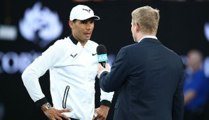 Jim Courier interviewt Rafael Nadal