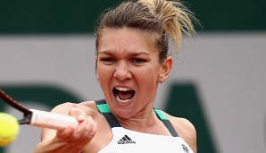 Simona Halep stand 2014 in Paris im Finale