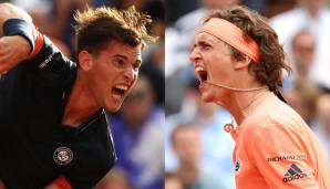Dominic Thiem und Alexander Zverev in Paris 2018