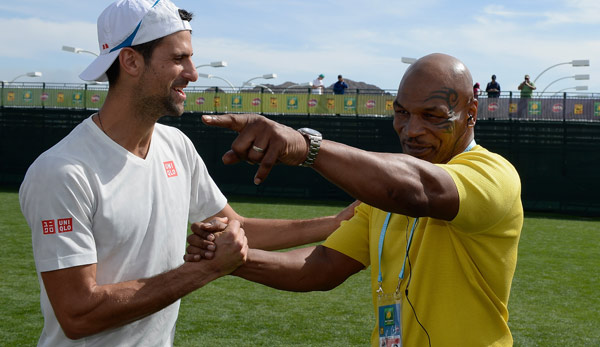 Mike Tyson trifft in Indian Wells den Weltranglistenersten Novak Djokovic