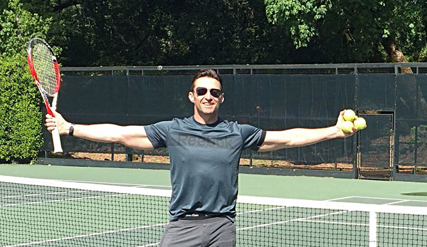 Hugh Jackman: Tennis anyone?