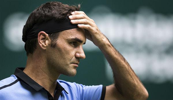 Roger Federer beim Tennis-Turnier in Halle zum elften Mal im Finale