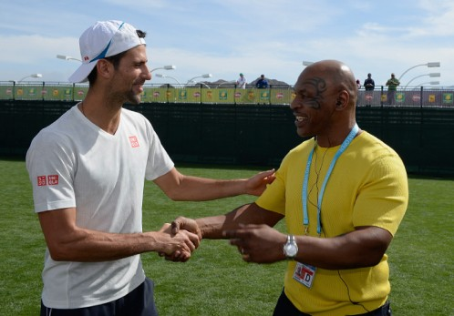 Novak Djokovic und Mike Tyson