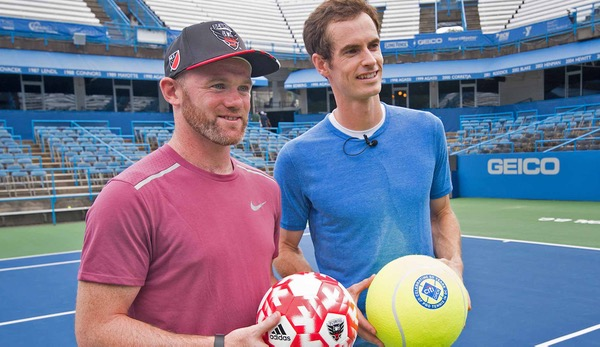 Rooney und Murray trafen in Washington aufeinander.