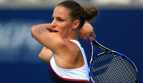 Karolina Pliskova ist in der Pole Position