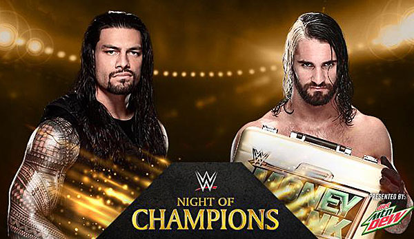 Bei Night of Champions trifft Money-in-the-Bank-Sieger Seth Rollins auf Roman Reigns