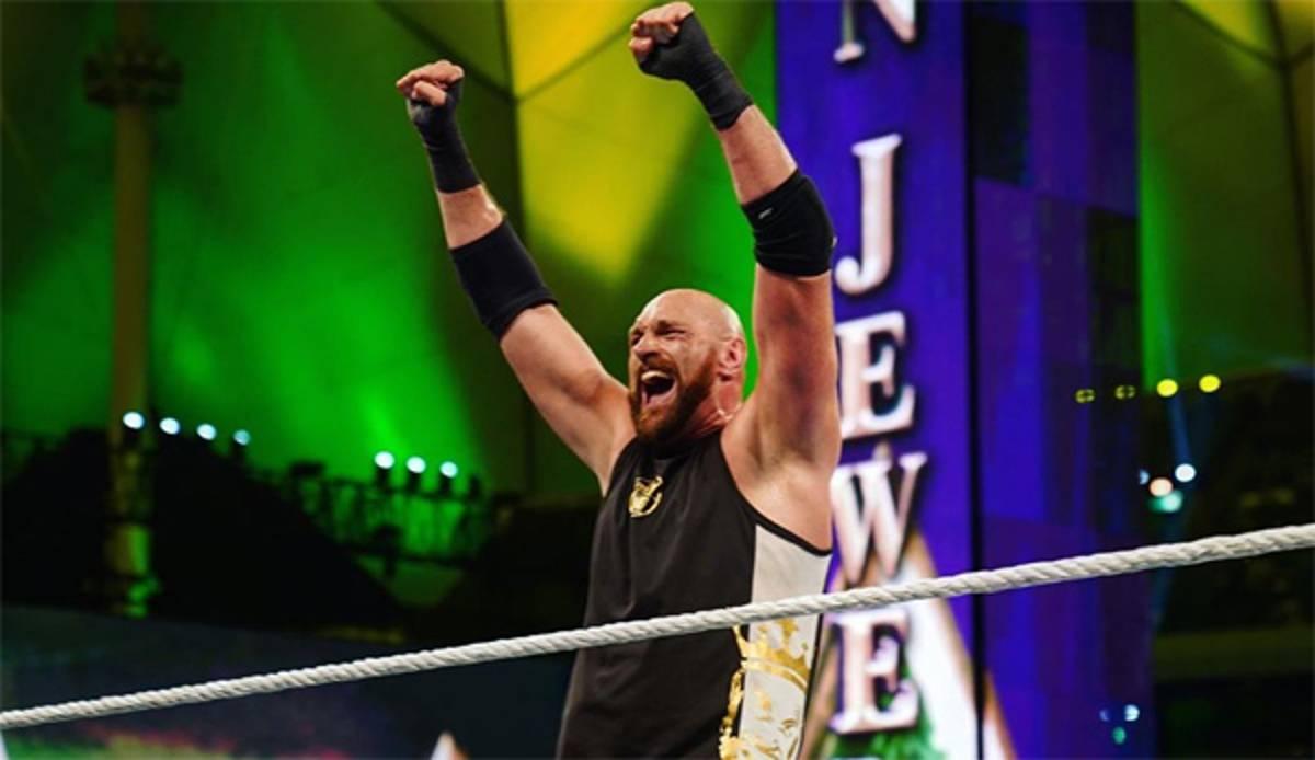 WWE Crown Jewel: Tyson Fury siegt bei Wrestling-Debüt - Lesnar gewinnt UFC-Rematch