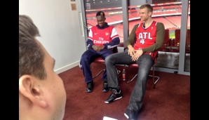 Termin mit Per Mertesacker und NBA-Youngster Dennis Schröder im Emirates in London
